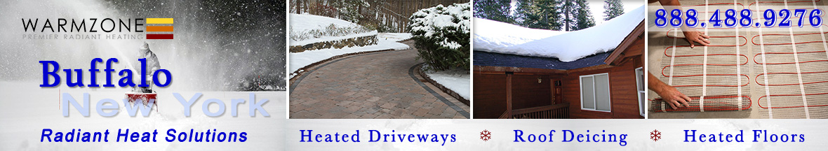 Buffalo radiant heated driveways, roof deicing and floor heating banner
